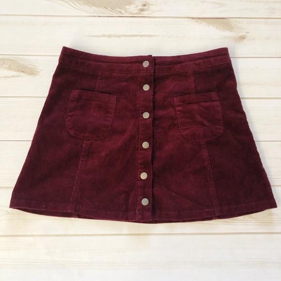 04a65bb5f8 Brandy Melville Dresses & Skirts - Brandy Melville Corduroy Button Down  Skirt
